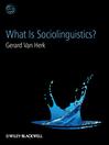 What Is Sociolinguistics (eBook)