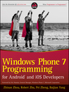 Windows Phone 7 Programming for Android and iOS Developers (eBook)