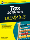Tax 2010 / 2011 For Dummies (eBook)