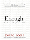 Enough (eBook): True Measures of Money, Business, and Life