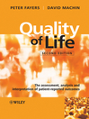 Quality of Life (eBook): The Assessment, Analysis and Interpretation of Patient-reported Outcomes