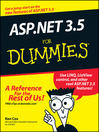 ASP.NET 3.5 For Dummies (eBook)
