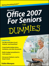 Microsoft Office 2007 For Seniors For Dummies (eBook)