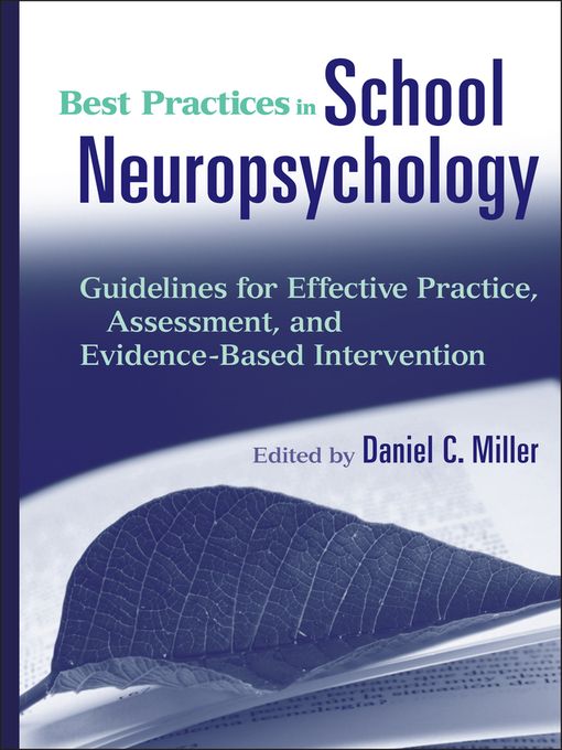 Best Practices in School Neuropsychology (eBook): Guidelines for Effective Practice, Assessment, and Evidence-Based Intervention