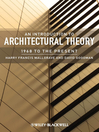 An Introduction to Architectural Theory (eBook): 1968 to the Present