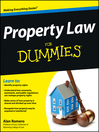 Property Law For Dummies (eBook)