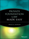Private Foundation Law Made Easy (eBook)