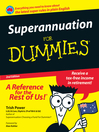 Superannuation For Dummies (eBook)