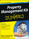 Property Management Kit For Dummies (eBook)
