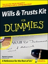 Wills and Trusts Kit For Dummies (eBook)