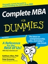 Complete MBA For Dummies (eBook)