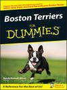 Boston Terriers For Dummies (eBook)