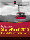 Professional SharePoint 2010 Cloud-Based Solutions (eBook)