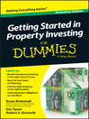 Getting Started in Property Investment For Dummies (eBook)