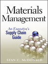 Materials Management (eBook): An Executive's Supply Chain Guide