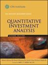 Quantitative Investment Analysis (eBook)