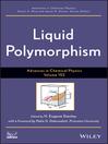 Advances in Chemical Physics, Liquid Polymorphism (eBook)