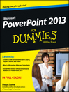 PowerPoint 2013 For Dummies (eBook)