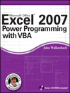 Excel 2007 Power Programming with VBA (eBook)