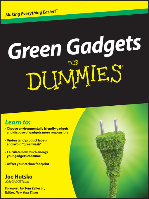 Green Gadgets For Dummies (eBook)