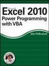 Excel 2010 Power Programming with VBA (eBook)