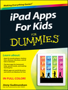 iPad Apps For Kids For Dummies (eBook)