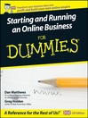 Starting and Running an Online Business For Dummies (eBook)