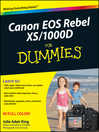 Canon EOS Rebel XS/1000D For Dummies (eBook)