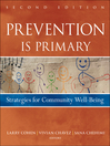 Prevention Is Primary (eBook): Strategies for Community Well Being