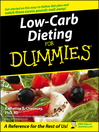 Low-Carb Dieting For Dummies (eBook)