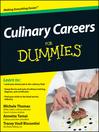 Culinary Careers For Dummies (eBook)