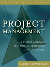 Project Management, CafeScribe (eBook): A Systems Approach to Planning, Scheduling, and Controlling
