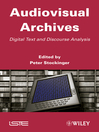 Audiovisual Archives (eBook): Digital Text and Discourse Analysis