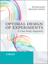Optimal Design of Experiments (eBook): A Case Study Approach