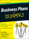 Business Plans For Dummies (eBook)