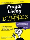Frugal Living For Dummies (eBook)