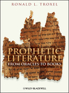 Prophetic Literature (eBook): From Oracles to Books