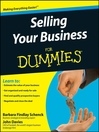 Selling Your Business For Dummies® (eBook)