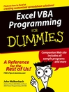 Excel VBA Programming For Dummies (eBook)