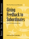 Giving Feedback to Subordinates (eBook)