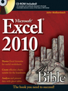 Excel 2010 Bible (eBook): Bible Series, Book 593