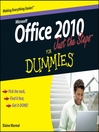 Office 2010 Just the Steps For Dummies (eBook)