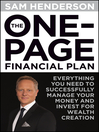 The One Page Financial Plan (eBook): Everything You Need to Successfully Manage Your Money and Invest for Wealth Creation
