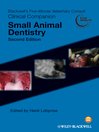 Blackwell's Five-Minute Veterinary Consult Clinical Companion (eBook): Small Animal Dentistry