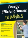 Energy Efficient Homes For Dummies® (eBook)