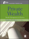 Private Wealth (eBook): Wealth Management In Practice