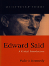 Edward Said (eBook): A Critical Introduction