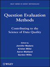 Question Evaluation Methods (eBook): Contributing to the Science of Data Quality