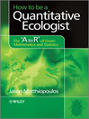 How to be a Quantitative Ecologist (eBook): The 'A to R' of Green Mathematics and Statistics