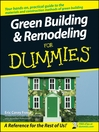 Green Building & Remodeling For Dummies (eBook)